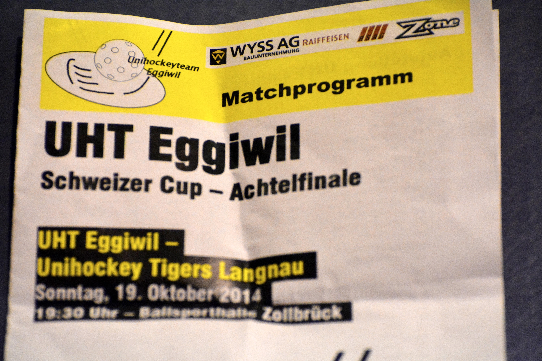 Herren NLB Schweizer Cup Achtelfinale - Unihockey Tigers Langnau Saison 2014/15