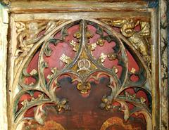 Mattishall screen:  St George and the dragon (15th Century)