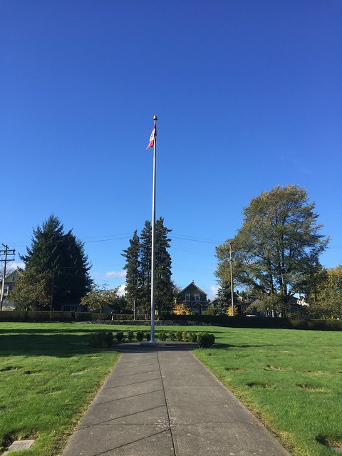 Canadian flag at Mountain View Cemetary