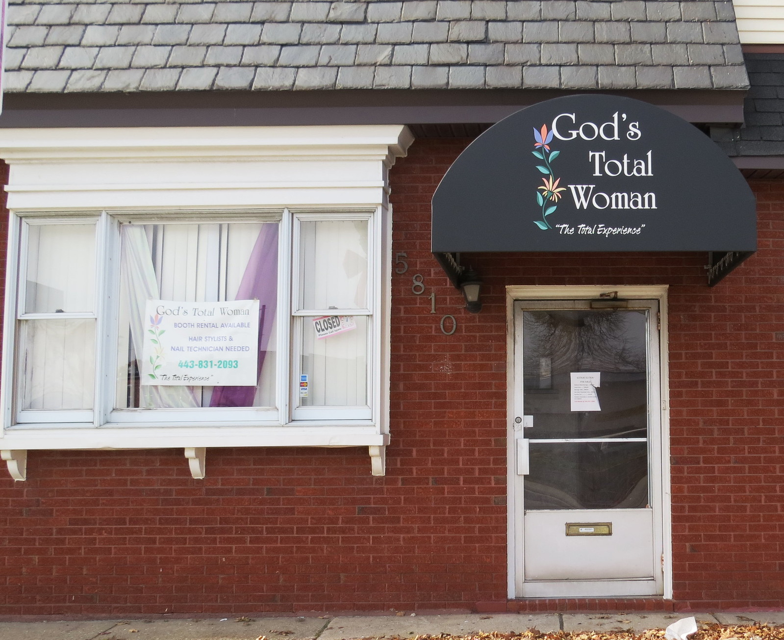 Small Business Door Awning