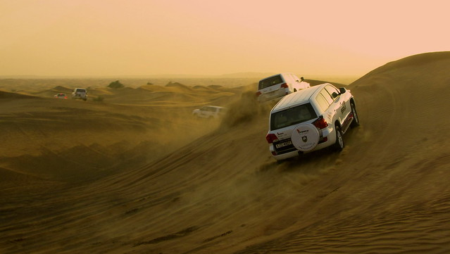 Crossing the desert ...