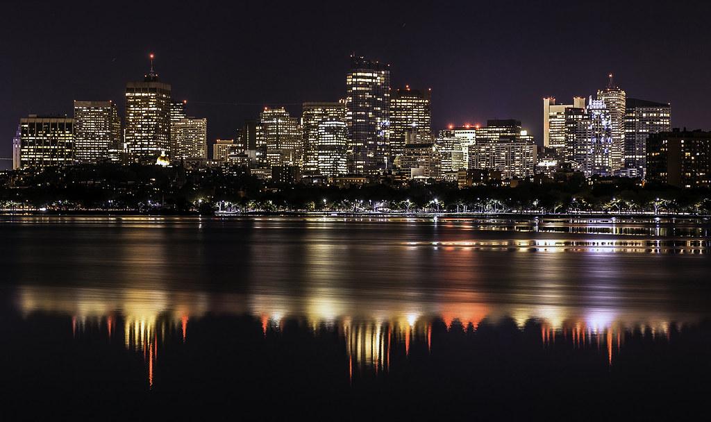 Boston skyline as seen from Cambridge