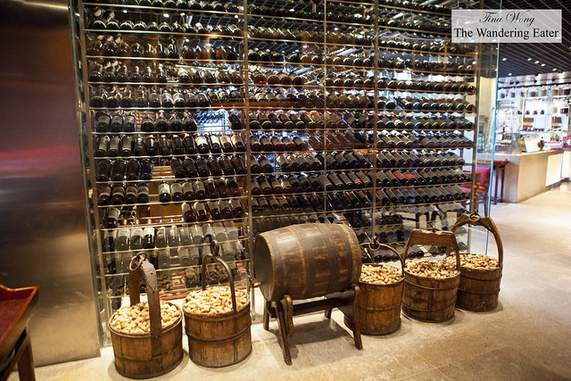 Shelves of wine at Made in China