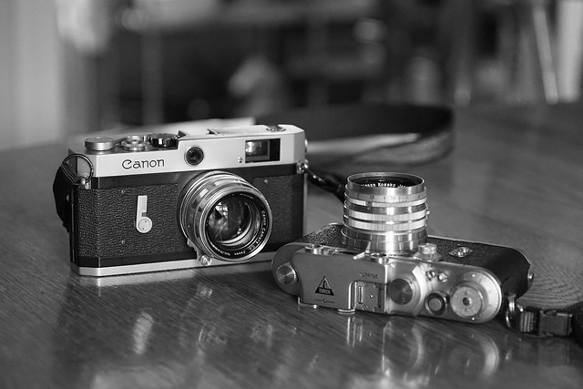 Canon P & Tower 3S rangefinders in B&W