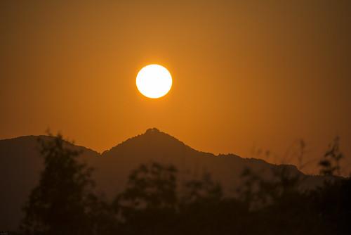 sunset 日本 夕焼け 千葉県 mineoka 鴨川市 嶺岡 嶺岡山系