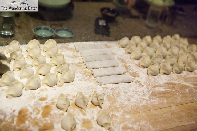 In house made dumplings
