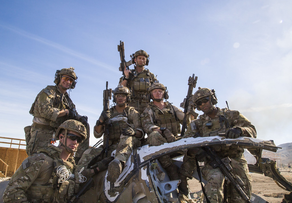 FORT IRWIN, Calif  - U S  Army Rangers, assigned to Alpha
