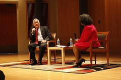 """November 10, 2014, ARHU hosted its first installment of the 2014-2015 Worldwise Dean's Lecture Series with Walter Isaacson.    Isaacson is credited with unlocking the codes of innovation and the people who dream and execute game changing breakthroughs. His biography, """"Steve Jobs,"""" broke U.S. biography sales records and his latest book, """"The Innovators: How a Group of Inventors, Hackers, Geniuses and Geeks Created the Digital Revolution,"""" is nominated for a National Book Award.  former CEO of CNN and current CEO of the Aspen institute argues that the future belongs to those who can appreciate the arts, the humanities and the sciences."""