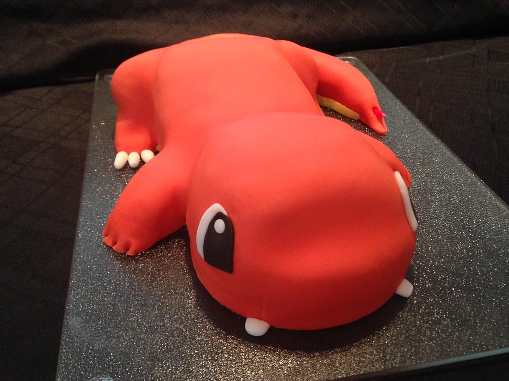 Fantastic Charmander From Pokemon Birthday Cake Debbie Windsor Flickr Funny Birthday Cards Online Elaedamsfinfo