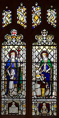St Ursula and St Elizabeth of Hungary by AK Nicholson, 1932