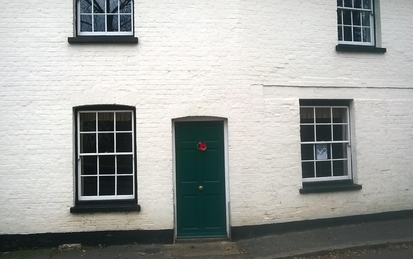 Poppy on house in Shoreham