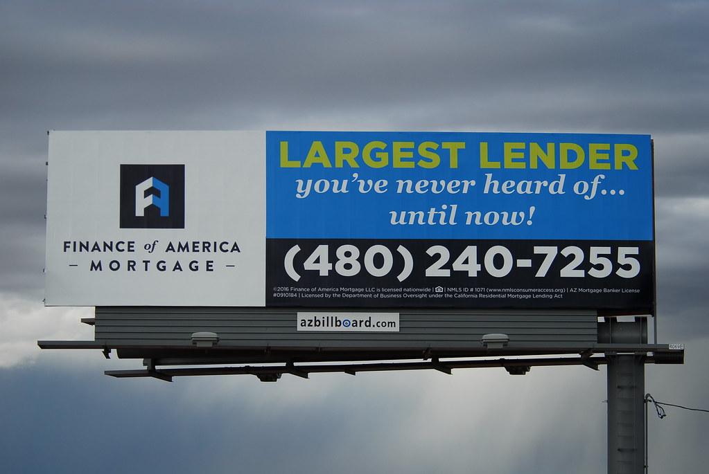 Finance Of America Mortagage Billboard Santan Freeway Lo Flickr
