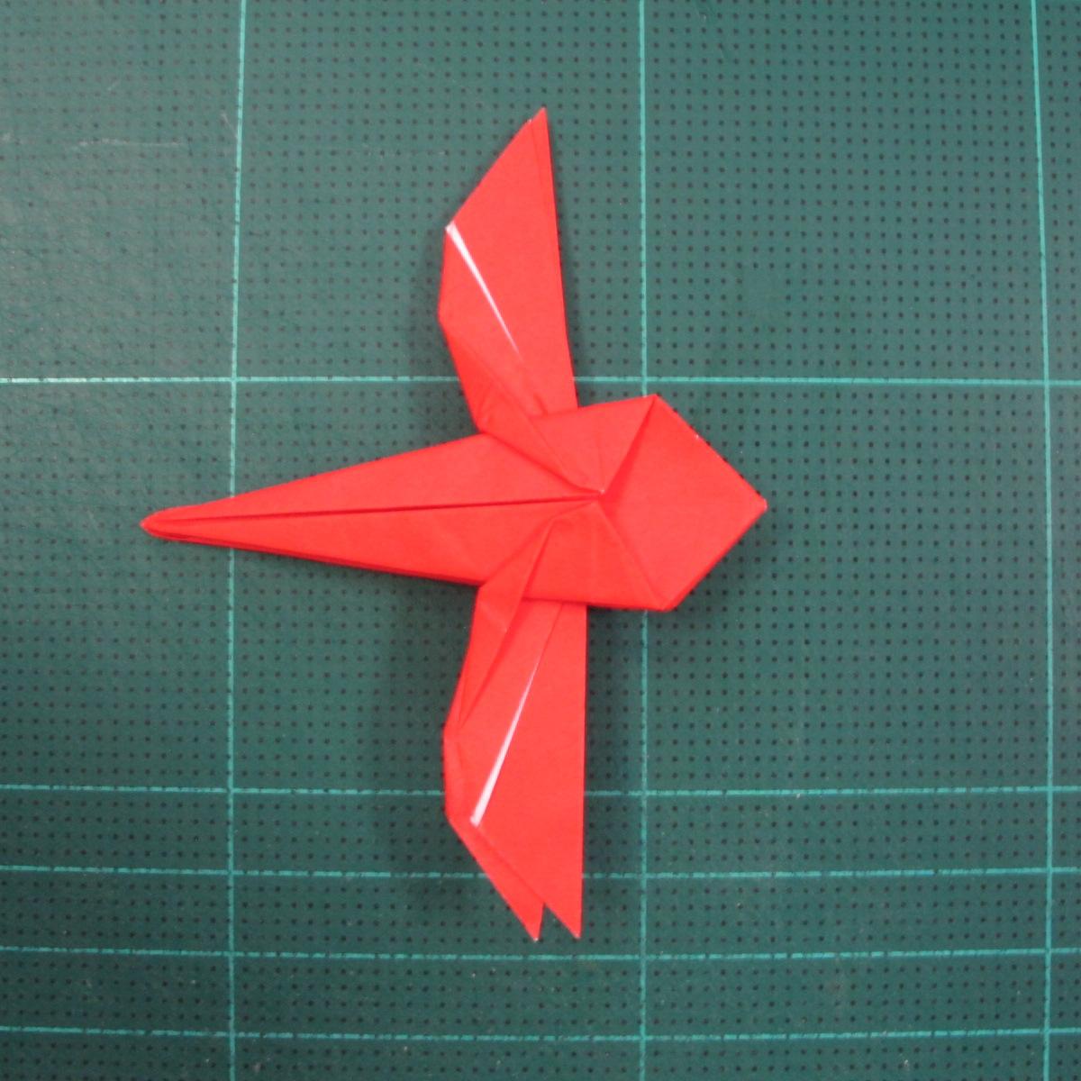 วิธีพับกระดาษเป็นรูปแมลงปอ (Origami Dragonfly) 019