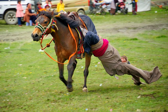 Tibetan Nomads are Masters on Horseback, Tibet 2014