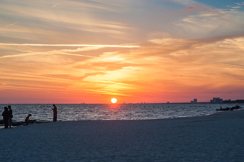 biloxi sunset beach gulfcoast