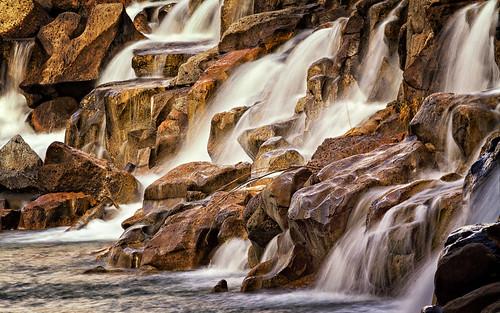 water waterfall rocks falls idaho idahofalls