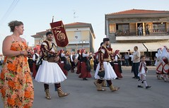Greece, Macedonia,   evzones and greek traditions on the roads of Sitaria village