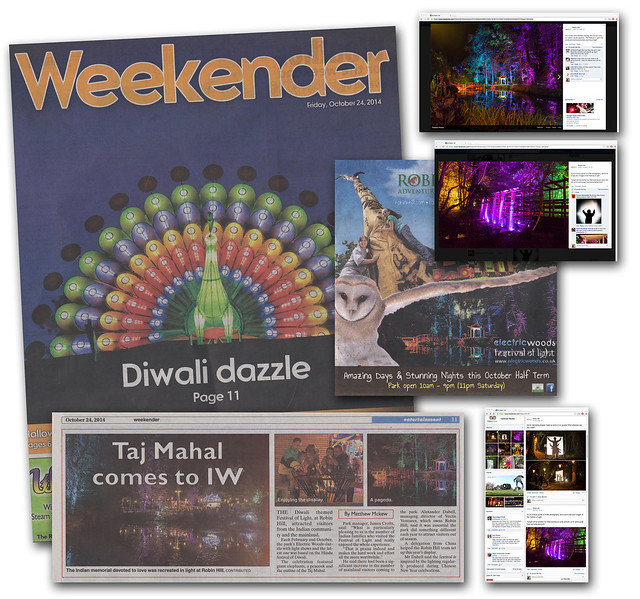 Diwali Festival of Light at Robin Hill Country Park - IWCP ad (Weekender section)