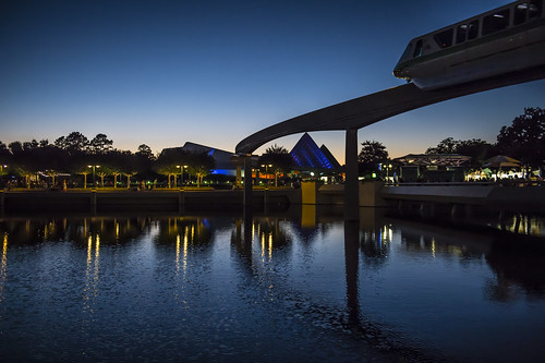 Epcot monorail at night 10 16 14 | by Joanie Eddis-Koch