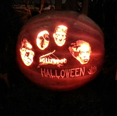 Mannie Liscum, MU Biology Professor, carved this pumpkin for Powell Gardens' pumpkin carving contest on Oct. 17, 2014.