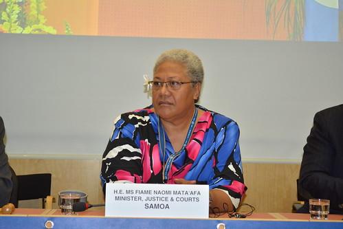 H.E Ms Fiame Naomi Mata Afa Minister, Justice & Court Samoa