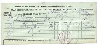 Manchester, Sheffield & Lincolnshire Railway waybill 1896   by ian.dinmore
