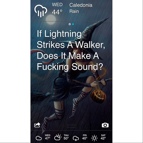 lol { #effingweatherapp #walkingdead #localweather } | by andthenshecameback
