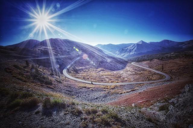 sunrise over cottonwood pass
