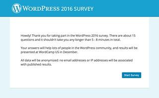 WordPress 2016 Survey | by odysseygate