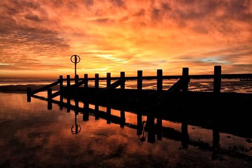 aberdeen aberdeenbeach scotland flickr sunrise sunset red reflection canon canoneos500d sea water