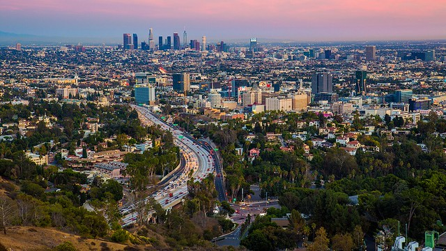 Hollywood and Downtown LA