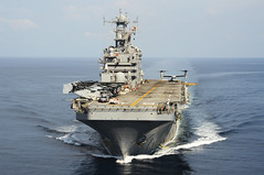 In this file photo, USS Peleliu (LHA 5) transits the South China Sea in October.  (U.S. Navy/MC1 Joshua Hammond)