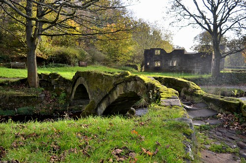 park bridge england horse tree english nature animals wall river way countryside hall interestingness interesting nikon stream village sheep beck path walk country hill donkey best lancashire most favourite popular hamlet atom mule bronte panopticon viewed colne packhorse wycoller trawden beckside gradeiilisted d5100 bodythongs