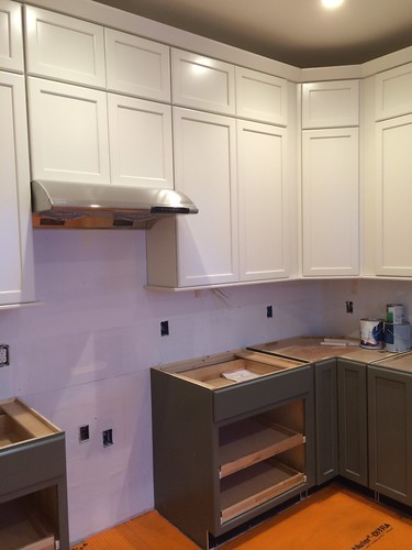 Trip added to cabinets, tile underlayment, and hood! | by neilathotep