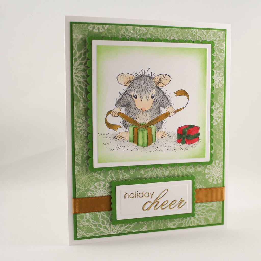 Christmas Greeting Card Making.Christmas Greeting Card House Mouse Christmas Card Xma