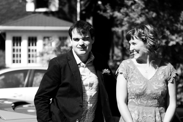 WeddingMustangBlurryBW