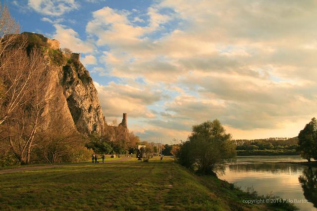 Devin Castle Cliff Sunny October
