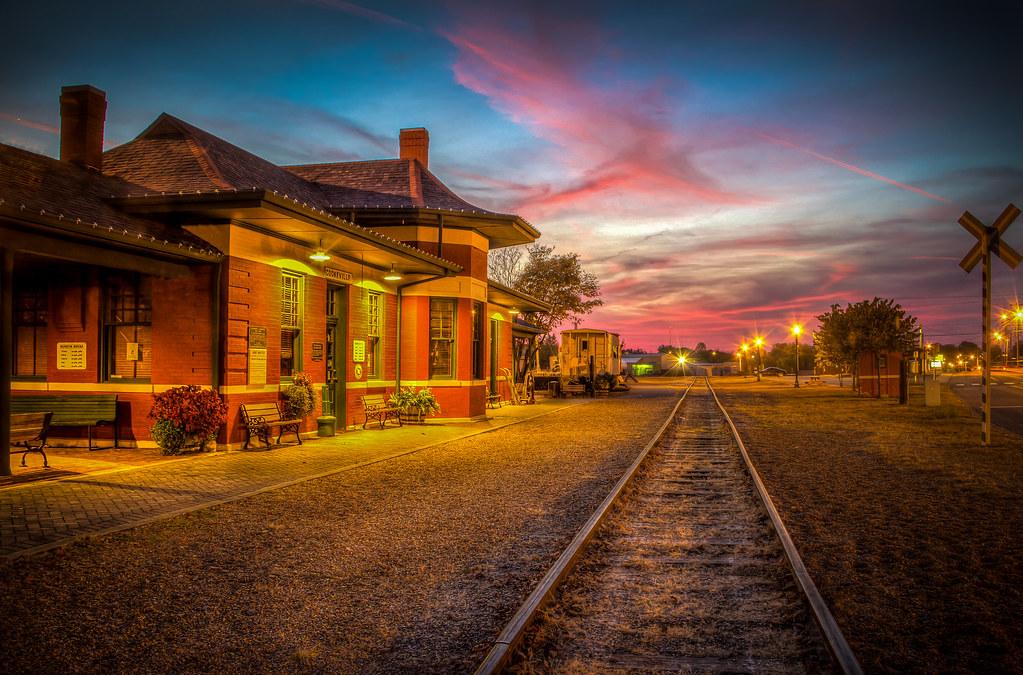Tonight's Sunset at the Depot (10-31-16) (Explore)