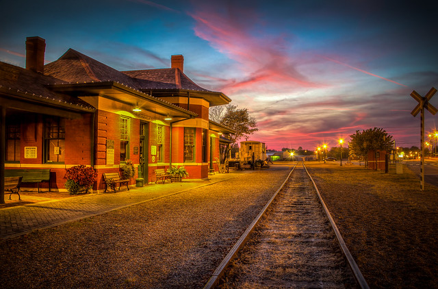 Tonight's Sunset at the Depot (10-31-16) (Explore)