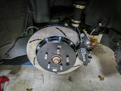 Racing Brakes RB Rear Figs BBK Installed   by gold94corolla