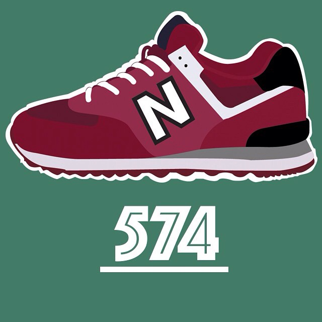 f4986442 Next graphic shoes .. New Balance number 574 #newbalance ...
