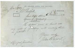 St Helens Canal and Railway memo 1862   by ian.dinmore