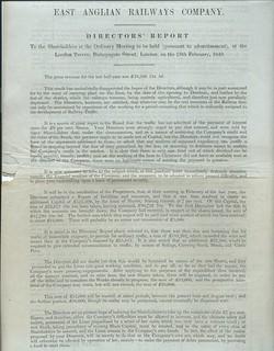 East Anglian Railways Dircetors' Report 1849 | by ian.dinmore