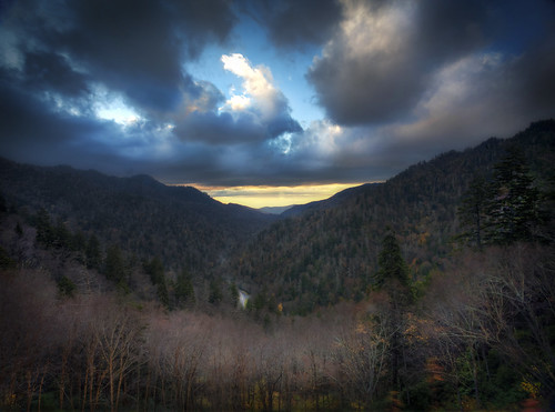park autumn sunset mountains fall landscape october highway great hwy national smoky 441 greatsmokymountainsnationalpark gsmnp tonybarber mortonsoverlook