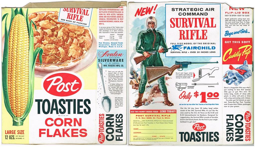 Vintage Post Toasties W Survival Rifle Post Toasties Box W Flickr