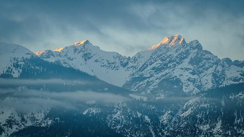 schnee winter sunset mountain snow alps berg tirol österreich europa europe glow sonnenuntergang berge alpen tyrol abendrot karwendel alpenglühen wattenberg