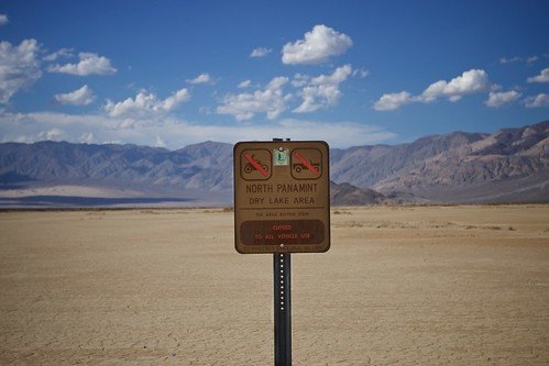 Death Valley dry lake sign | by Marco Hamersma