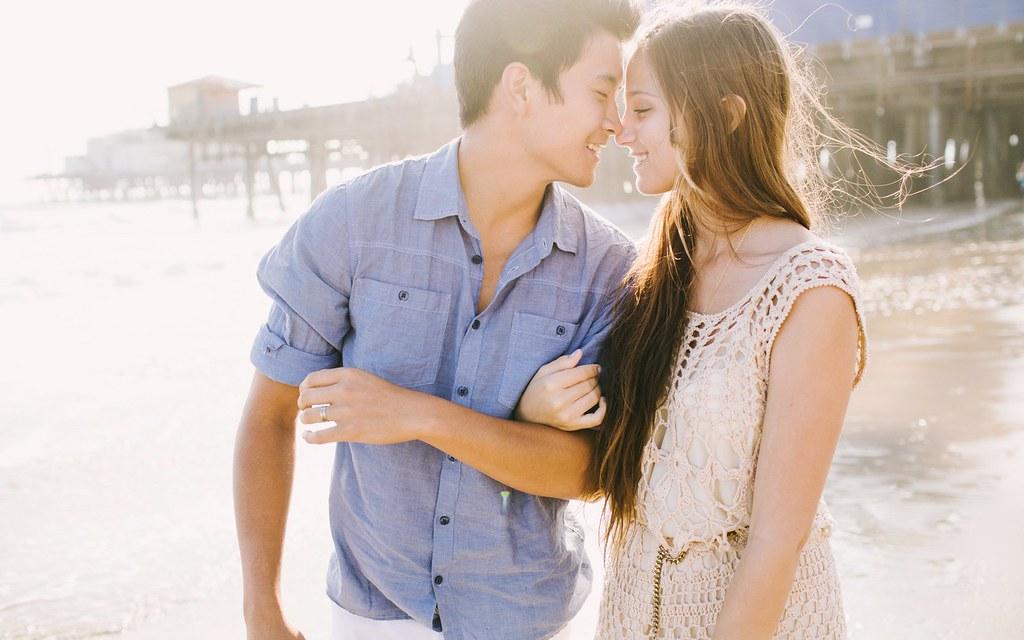 Cute Asian Couple On Beach Hd Wallpaper Stylish Hd Wallp Flickr