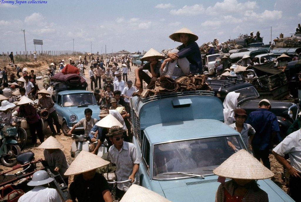 SOUTH VIETNAM 1975. Refugees during the last days of the Vietnam War