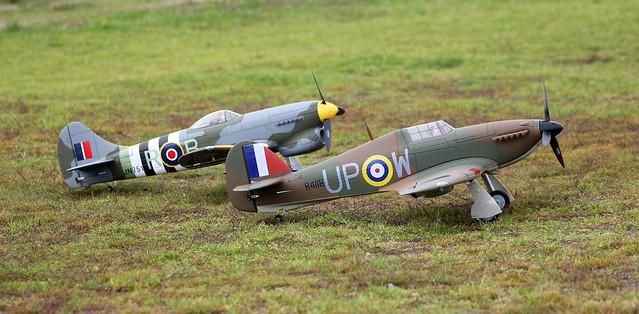 Dynam Hawker Hurricane + Tempest